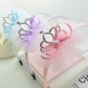 Sequin Crown Lace Headband for Girls