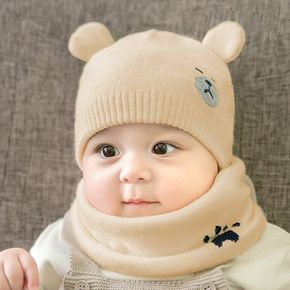 Baby Bear Design Knitted Hat