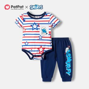 Smurfs Baby Boy 2-piece 4th of July Romper and Pants Sets