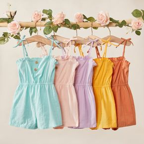 Toddler Girl Multi-color Ruffle Flounce Tank Rompers