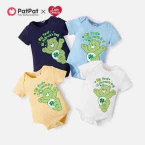 Care Bears Baby Boy/Girl My First St. Patrick's Day 100% Cotton Romper