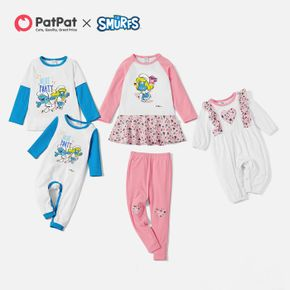 Smurfs Cotton Blue Party Girl-Boy -Baby Sibling Set