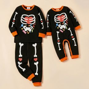 Care Bears Halloween Glow in the Dark Skeleton with Candy Sibling Set