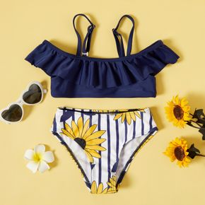 2-piece Toddler Girl Camisole and Floral Print Briefs Set