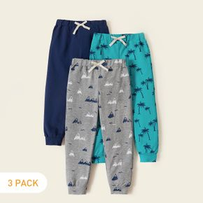 3-piece Toddler Coconut Tree Allover Pants Set