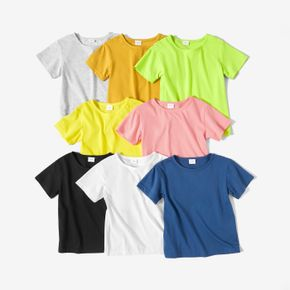 Baby / Toddler Solid Comfy Cotton Short-sleeve