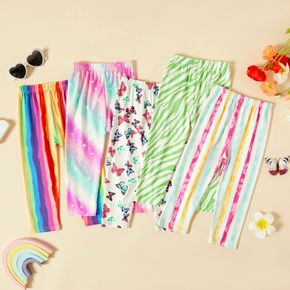 Toddler Girl Rainbow Stripe Butterfly Stars Tie Dyed Print Pants