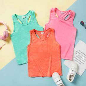 Multi Color Solid Racerback Tank Top for Toddlers / Kids