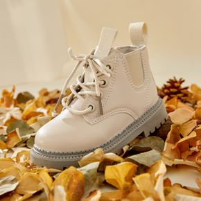 Toddler / Kid Solid Color Side Zipper Closure Boots