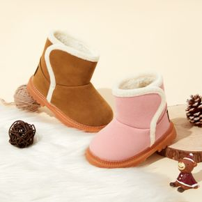 Baby / Toddler Solid Fleece-lining Boots