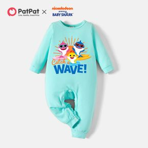 Baby Shark Family Sharks Cotton Jumpsuit for Baby Boy/Girl