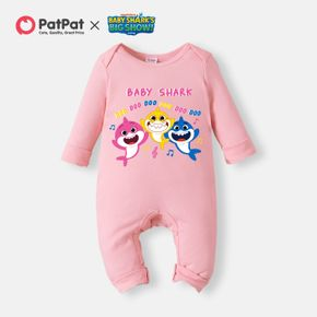 Baby Shark Big Show ' Shark Music' Cotton Jumpsuit for Baby Girl