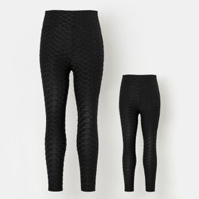 Solid Black Leggings for Mom and Me