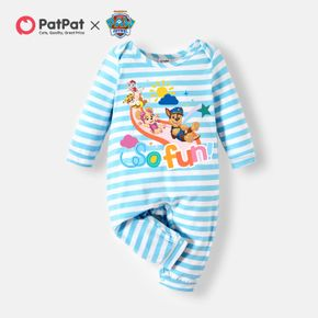 PAW Patrol Little Boy/Girl Stripe and Graphic Cotton Jumpsuit