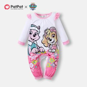 PAW Patrol Little Girl Floral and Flounce Big Graphic Jumpsuit