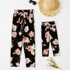 Allover Floral Print Straight Pants for Mom and Me