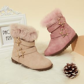 Toddler / Kid Five-pointed Star Buckle Fleece-lining Boots