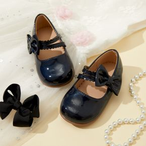 Toddler / Kid Bowknot Velcro Solid Color Shoes