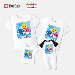 Baby Shark Family Matching Graphic Cotton Tee and Jumpsuit