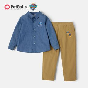 PAW Patrol 2-piece Toddler Boy Cotton Solid T-shirt and Pants