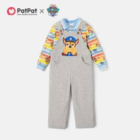 PAW Patrol Toddler Boy Cotton Stripe Allover Tee and Graphic Overalls