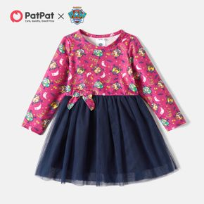 PAW Patrol Toddler Girl Allover and Mesh Halloween Dress