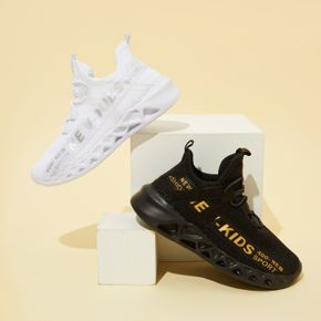 Kid Letter Print Breathable Sports Shoes