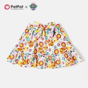 PAW Patrol Toddler Girl Floral Allover Bowknot Cotton Skirt