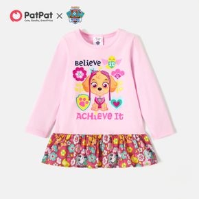 PAW Patrol Toddler GIrl Floral and Graphic Cotton Dress