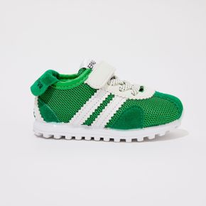 Toddler/ Kid Striped Detail Colorblock Velcro Closure Sports Shoes