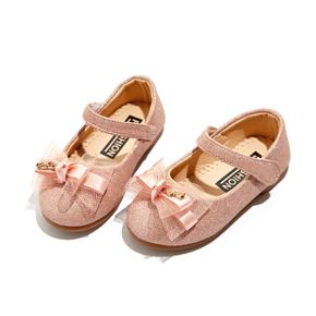 Toddler / Kid Bowknot Decor Velcro Solid Color Shoes