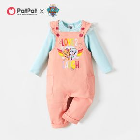 PAW Patrol 2-piece Little Girl Cotton Bodysuit and Graphic Overalls Sets