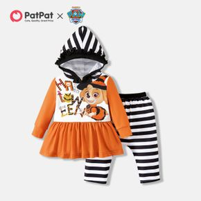 PAW Patrol Little Girl 2-piece Halloween Hooded Top and Stripe Pants Sets