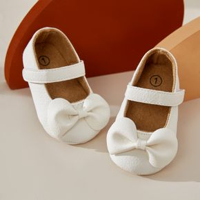 Baby / Toddler Girls Bowknot Velcro Closure Soft Sole Prewalker Shoes