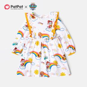 PAW Patrol Toddler Girl Flounce and Rainbow Allover Dress