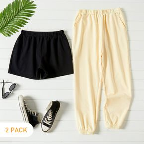 2-Pack Casual Pants & Shorts Set For women