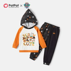 PAW Patrol 2-piece Toddler Boy Halloween Spider Pattern Hooded Sweatshirt and Pants Sets