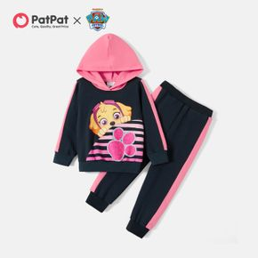 PAW Patrol 2-piece Toddler Girl Colorblock Hooded Sweatshirt and Pants Sets
