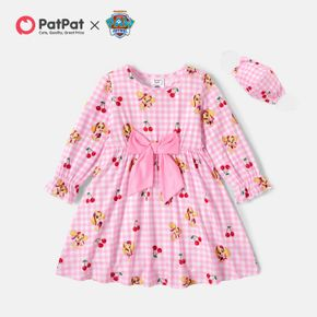 PAW Patrol Plaid and Cherry Allover Bow Dress with Face Mask