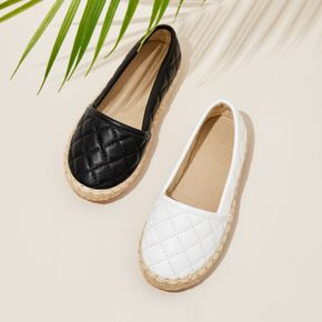 Toddler / Kid Solid Color Slip-on Quilted Espadrille Shoes
