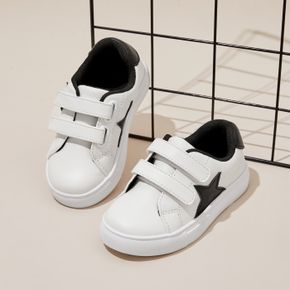 Toddler / Kid Five-pointed Star Graphic Velcro Closure White Sneakers
