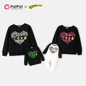 Gigantosaurus Hearts and Dinos Cotton Family Matching Sweatshirts and Jumpsuits
