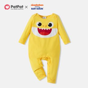 Baby Shark 'Smile Face' Graphic Baby Boy/Girl Cotton Jumpsuit