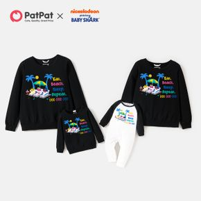 Baby Shark Cotton Shark Graphic Family Matching Casual Pullover Sweatshirts
