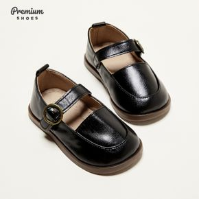 Toddler / Kid Solid Buckle Closure Shoes