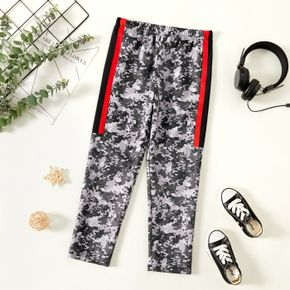 Kid Boy Camouflage Print Striped Casual Pants