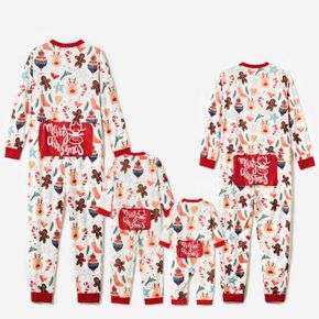 Christmas All Over Print Family Matching Long-sleeve Onesies Pajamas Sets (Flame Resistant)