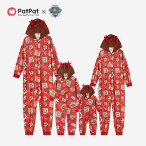 PAW Patrol 3D Antler Allover Hooded Christmas Family Matching Onesies Pajamas