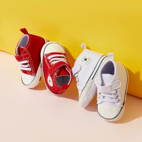 Baby / Toddler Star Graphic Shoelace Decor White Prewalker Shoes