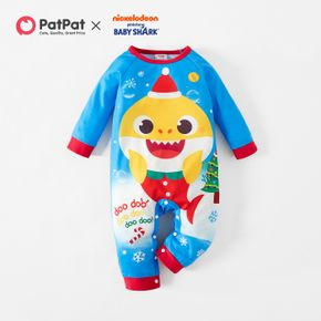 Baby Shark Christmas Big Graphic Cotton Jumpsuit for Baby